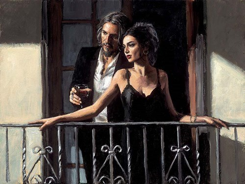 Image: ART00146779 (Fabian and Lucy at the Balcony II)